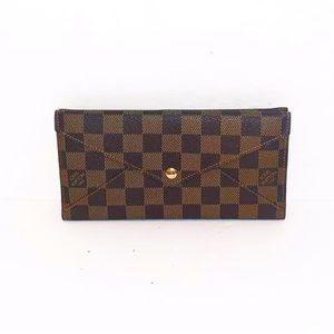 Authentic Vuitton Damier Ebene Origami Long Wallet